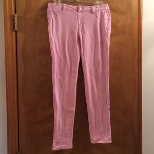 Girls Justice pink sparkle jeans.